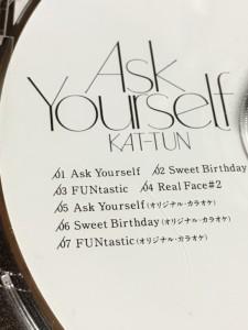 KAT-TUN Ask Yourself 通常 初回 通常初回プレス 盤 6