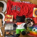 大倉忠義君ソロコングッズオオクマ、関ジャニ∞のエイターテイメントJAMバッグ、生写真、タオル、マグカップ、CDなどのグッズ。