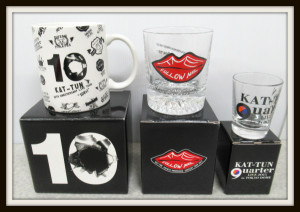 KAT-TUN 亀梨和也 ソロコン Follow me ロックグラス マグカップ 10Ks! quarter ショットグラス