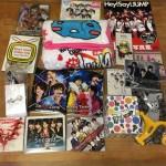 Hey! Say! JUMPのブランケット、キーホルダー、Sexy ZoneのDVD、CD、ジャニーズWESTのペンライト等のグッズ