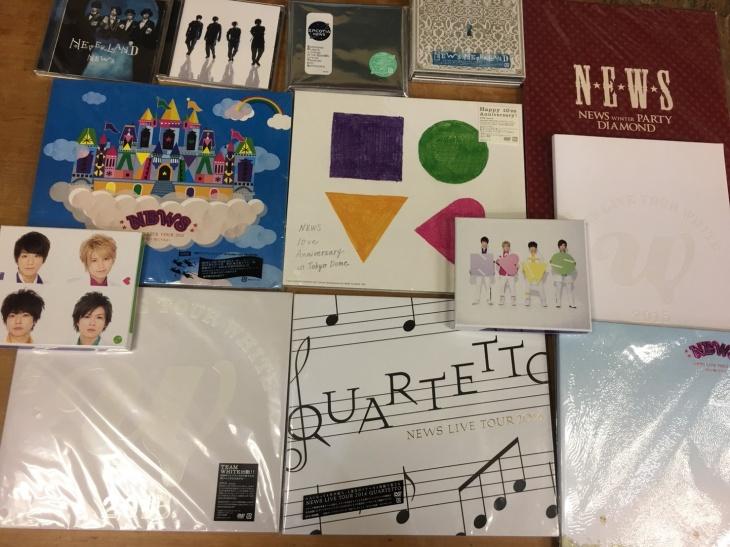 NEWSの美しい恋にするよ、QUARTETTO、WHITEの初回盤DVD、NEWS 初回盤A、B等