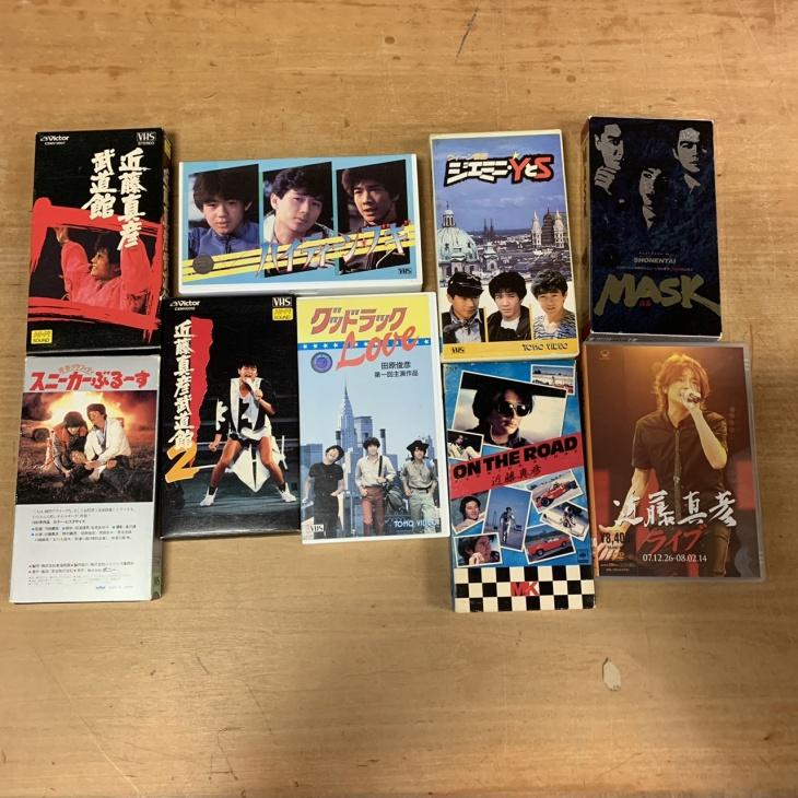 近藤真彦さん、たのきんトリオ、少年隊のハイティーンブギ、ジェミニ YとS等VHS、DVD