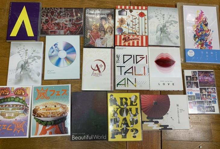 嵐の「untitled」、嵐フェス、Time 等のDVD、カイトFC盤CDをお譲り頂きました!